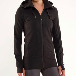 Black Lululemon Stride Jacket with Hood